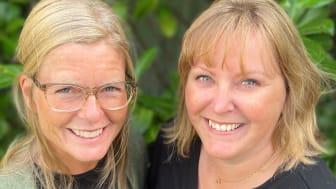 Camilla Settlin och Mirja Westerlund, grundarna av Yoga Västervik.