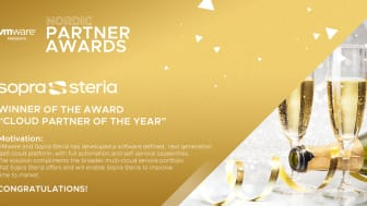 Sopra Steria blir VMware Cloud partner of the year