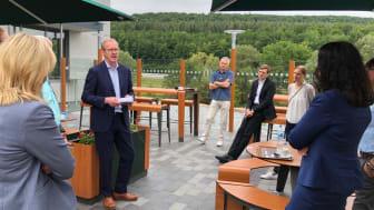 BdS-Präsidiumsmitglied Peter Bohnet berichtet beim Vororttermin