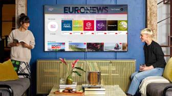 SAMSUNG PLUS: Tjenesten gir kunder direkte tilgang til nyheter, sport, underholdning og mer.