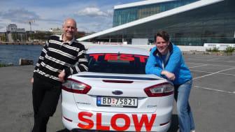 Knut Wilthil og Henrik Borchgrevink kjørte 2536,4 km på en dieseltank med en ordinær Ford Mondeo ECOnetic
