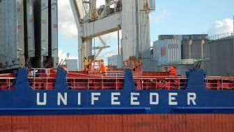 Det nya anlöpet är en del av en ny Unifeederservice som kommer avgå från Klaipeda och sedan vidare till Gdynia, Stettin, Helsingborg, Aarhus och tillbaka igen.