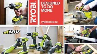 6 nya tillskott till RYOBI® One Plus 18 volt serien