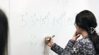 Mathivation-lektion, ekvation under lösning