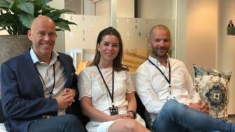 Visma Mamut heier på små småbedrifter og gründere som tør å satse – (fra venstre) administrerende direktør Kenneth Løvold, marketing manager Hanne Groa og markedsdirektør Marius Andersen.