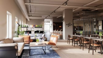 Lobbyn på Comfort Hotel Kista