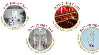 De fem nominerade till ROT-priset 2017