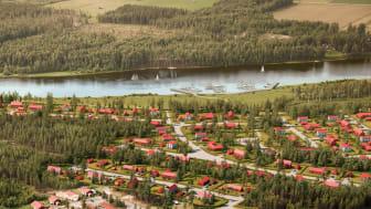 Tio nya tomter (närmas i bild) släpps den 14 juni på Norrskensvägen på det nya villaområdet Brännan i Sävast.