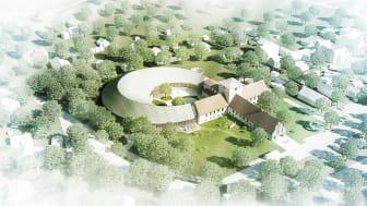 Illustrasjon av det planlagte nye Vikingetidsmuseet
