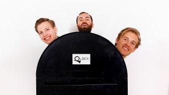 Björn Nyckelgård, Robert Kofoed & Christian Åsheim från Qlocx, fotografe Victor Ackerheim