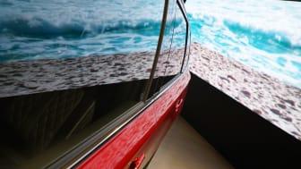 Bild inifrån Mitsubishi Concept Store i Sickla