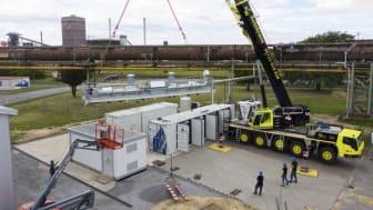 Ankunft der weltweit leistungsstärksten Hochtemperatur-Elektrolyse bei der Salzgitter Flachstahl GmbH (Foto: Salzgitter Flachstahl GmbH)