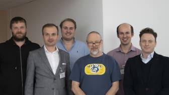 Projektgruppen för LakeIT från vänster: Sven Bengtsson, NSVA, Piotr Piekos, Future Processing, Theodor Nestler, NSVA, Mats Henriksson, NSVA, Tomasz Danielczyk, Future Processing, Daniel Nussdorf, Iceberry, Peter Nagy, NSVA.