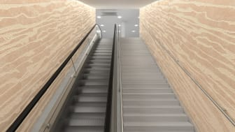 Tilemark escalator