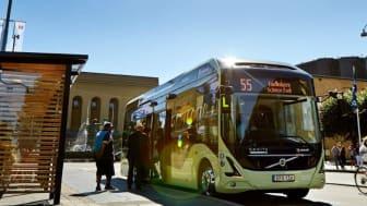 Electricity och buss 55 - en del av de fossilfria transporterna i Göteborg. Foto: Trafikkontoret, Göteborgs Stad