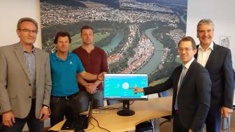 Mit dem EnergieMonitor des Bayernwerks geht Burghausen den nächsten Schritt in die Energiezukunft