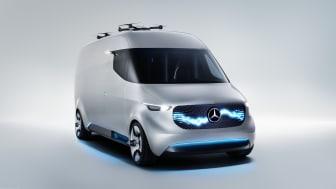 """Den komplet el-drevne konceptbil """"Vision Van"""" blev præsenteret for offentligheden på IAA-messen 2016."""