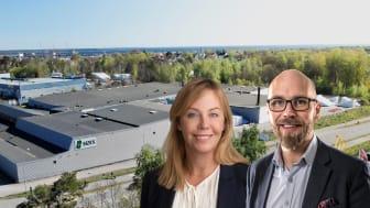Elin Sjöstrand, Rikshem (till vänster) Niklas Andersson, Sizes (till höger) Sizes Produktionsanläggning (bakgrund)