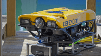 The new Flexview mounted on VideoRay's Defender MSS