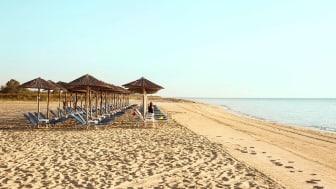 Strandpromenaden i Paralia – en typisk græsk by, men omkring 1.100 indbyggere.