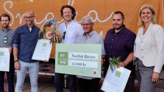 Prisutdelningen av Nyskaparstipendiet 2018 på på matfestivalen Smaka på Stockholm i Kungsträdgården.