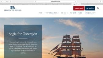 Premiär för Briggen Tre Kronors nya hemsida
