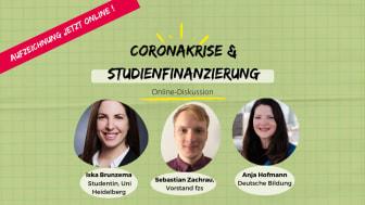 Online-Diskussion: Studienfinanzierung in der Coronakrise