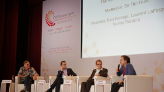 GYSS speakers at a panel discussion on the topic of the human side of science. Photo credit: National Research Foundation Singapore