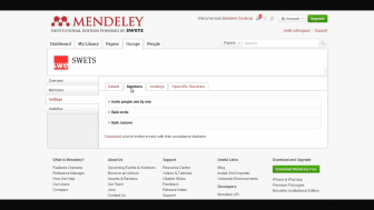 Inviting members to a Mendeley Institutional Edition group (Japanese)
