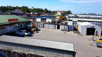 Cramos depå i Segeltorps industriområde som övertas av XL-BYGGPARTNER den 1:a september 2019.