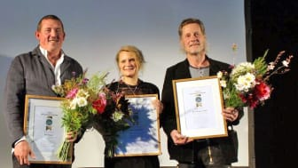 Årets byggnadsvårdare är PG Nilsson, Cathrine Bülow och Karl Magnus Melin.