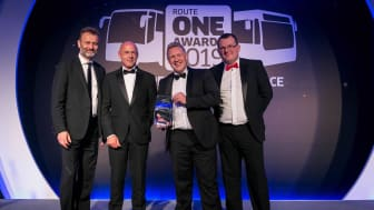 Colin Barnes receiving his Engineer of the Year award at the routeone Awards