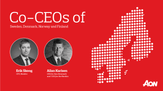 Erik Skoog, CFO, Nordics and Allan Karlsen, CEO for Aon Denmark and COO for the Nordics
