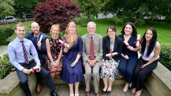 L-r  Joe Phillips, Tom Nicholson, Amanda Clarke, Gillian Fraser, Dr Phil Adams, Rebecca Craig Lindsey Marshall, Nicola Miller