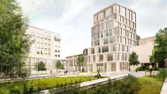Förslag för ny byggnad på Handelshögskolan i Göteborg visas upp