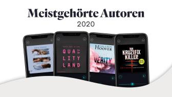Die meistgehörten Hörbücher 2020 bei BookBeat – Anzahl der gehörten Stunden fast verdreifacht