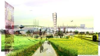 Visonsbild till Malmös nya översiktsplan (ÖP2012)