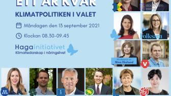 Webinarium: Ett år kvar – klimatpolitiken i valet