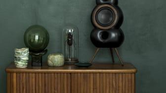 MiniPod Bluetooth MKII, Black Matte. Hoop and Spikes Wood, Dark Oak