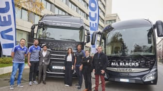 Iveco i partnerskap med All Blacks ønsket denne solidaritets-aksjonen til fordel for Unicef og kan overlevere i overkant av 230.000 euro.