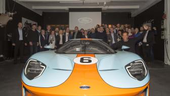 Första leveransen av nya Ford GT till Skandinavien.