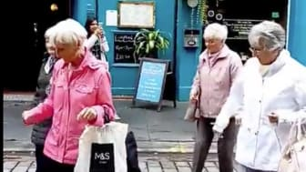 The Glasgow Grannies dancing away in the Merchant City