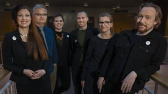 Styrelsen i Lars Winnerbäcks stiftelse. Nytt för i år är att Mattias Ahlén ersätter Jan Gradvall. Foto: Anton H Le Clercq