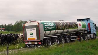 Arlas första biogasdrivna mjölktankbil
