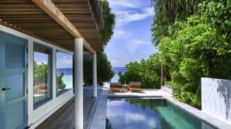 Sunset Beach Villa im Raffles Maldives Meradhoo  © Jorg Sundermann