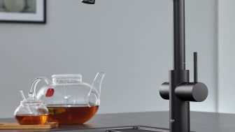 Addera eleganta detaljer i din bad- och köksinredning med nya färgen GROHE Matt Black