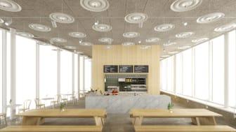 Bonniers Konsthall presenterar ett nytt café ritat av Tham & Videgård