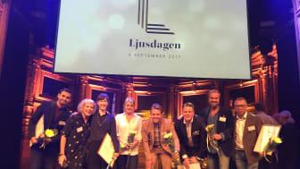 Ljusrum tar emot Svenska Ljuspriset.