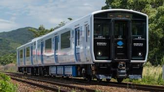 DENCHA train running on battery power