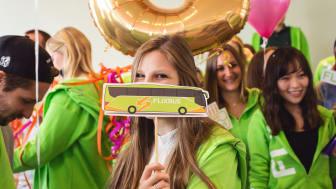 FlixBus firar fem år av blomstrande affärer